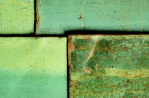 polished green concrete samples