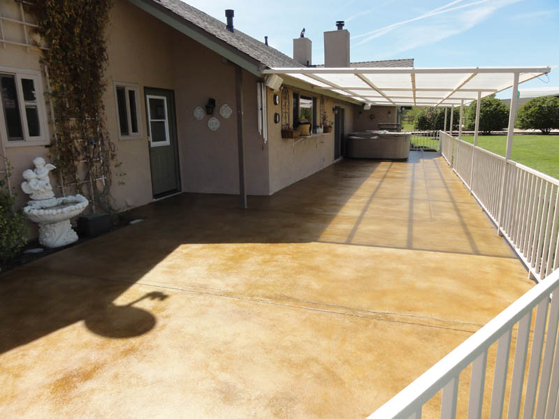 Pristine Concrete Paso Robles CA Stained Concrete Patios 1