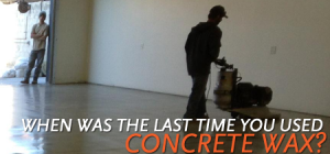 san luis obispo concrete wax