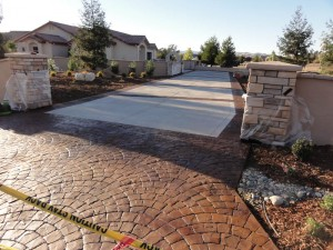 stamped concrete driveway paso robles