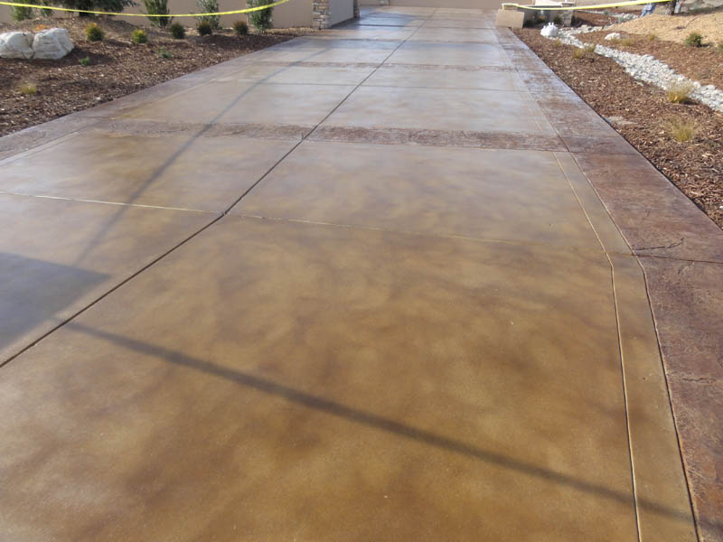 Pristine Concrete Paso Robles Ca Stained Concrete Driveway