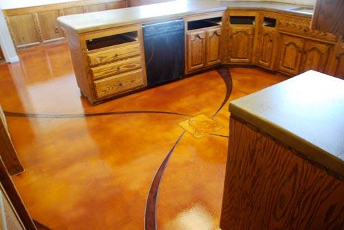 Residential Stained Concrete Floors: San Luis Obispo Concrete
