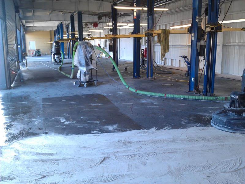 pristine concrete san luis opisbo ca perry ford service epoxy coating before 5 pristine concrete. Black Bedroom Furniture Sets. Home Design Ideas