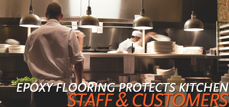 Tremendous Epoxy Flooring Protects Commercial Kitchen Floors For Staff Home Interior And Landscaping Synyenasavecom