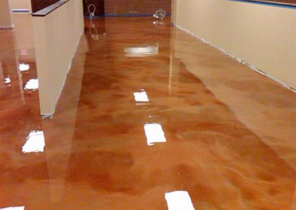 epoxy coating with high gloss