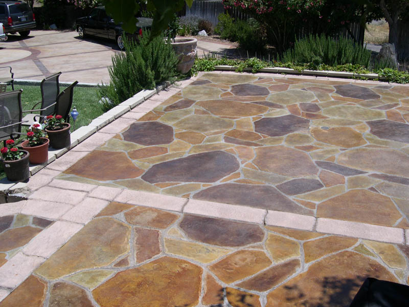 stained, polished, and stamped concrete